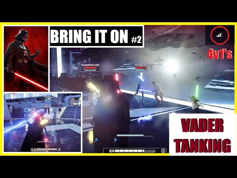 Battlefront 2   OP VADER CHOKES the life out of this team! (27-2)   Heroes vs Villains  