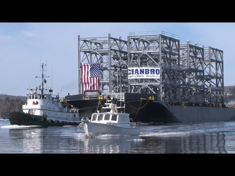 Delivering Cianbro Modules Aboard The Emma Foss