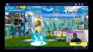 Noob Plays Fortnite *Cringiest Gameplay Ever*