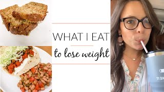 WHAT I EAT IN A DAY TO LOSE WEIGHT CALORIES & WW FREESTYLE SMART POINTS