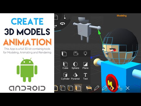 Creating 3D Models And Animations Using Android 3D App | Make Green Screen Videos