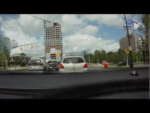 Driving around Charlotte, North Carolina