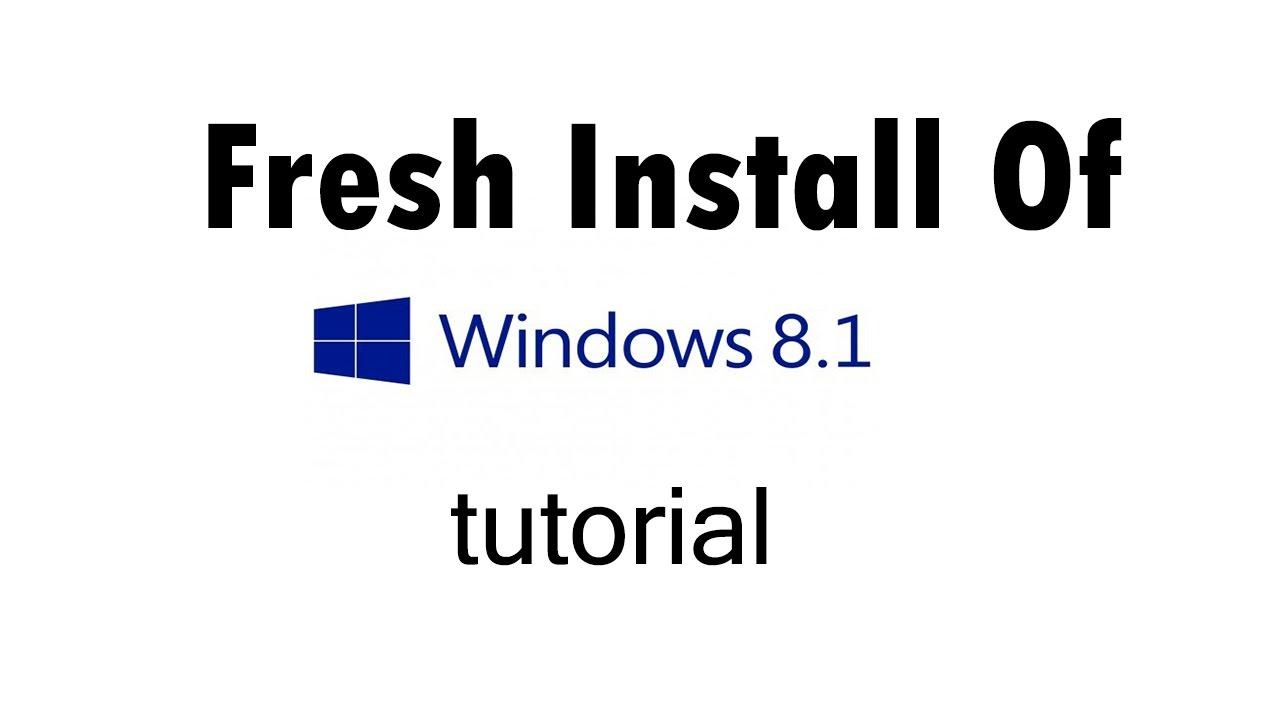 fresh copy of windows 8