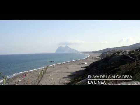 Playa de la Alcaidesa (La Línea) y Peñón de Gibraltar