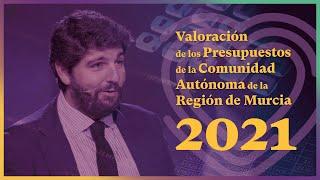 Valoración de los presupuestos 2021 para la Región de Murcia