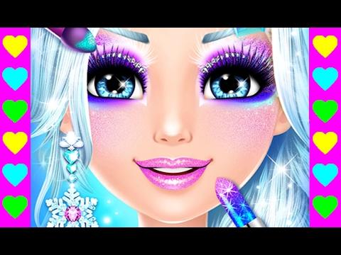 Мультики про Снежную Королеву для девочек! Делаем макияж Ледяной принцессе. Мультфильмы детям!