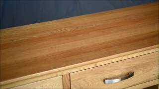 Avalon Oak Sideboard with Wine Cabinet