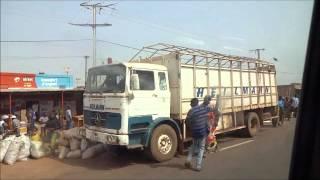 Burkina Faso: Bus Ride from Sabou to Ouagadogou ブルキナファソ:ミニバスでサブからワガドゥグへ