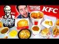TRYING KFC! THE WHOLE MENU! - Fried Chicken, Chicken Pie, Fries, & MORE Taste Test!