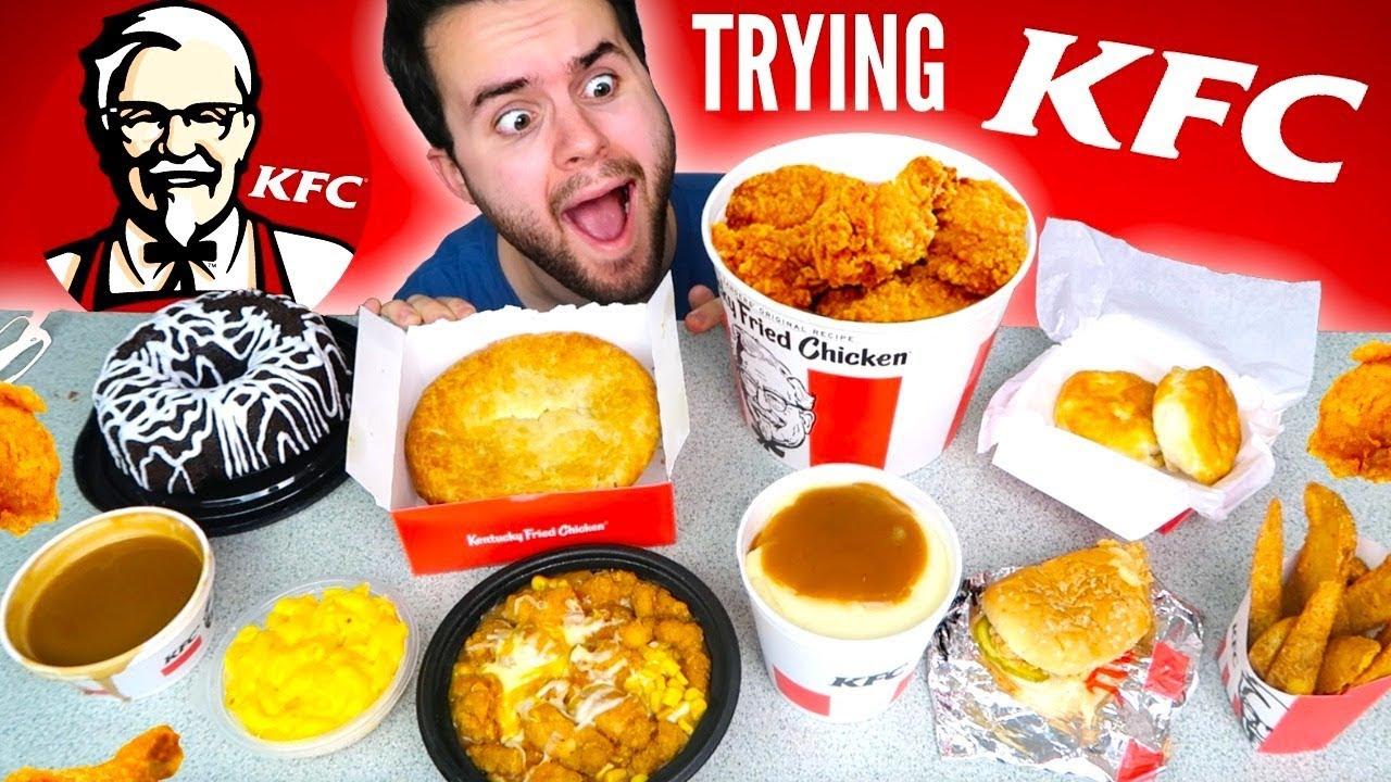 Trying Kfc! The Whole Menu!  Fried Chicken, Chicken Pie
