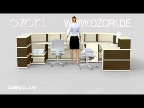 Ozori Empfang Tresen Und Arbeitsbereiche Fur Praxis Kanzlei Und