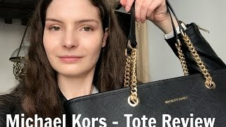Michael Kors Jet Set Travel Chain Leather Tote   Bag Review