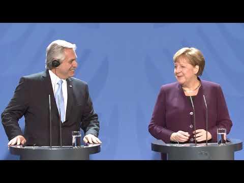 El presidente Alberto Fernández se reunió con la canciller alemana, Angela Merkel