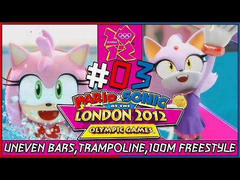 Mario and Sonic at the London 2012 Olympic Games Wii Coop Gymnastics/Aquatics Amy VS Blaze Part 3