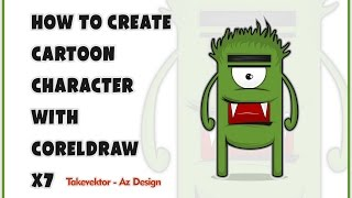 How To Create A Cartoon Character With CorelDraw x7 By takevektor
