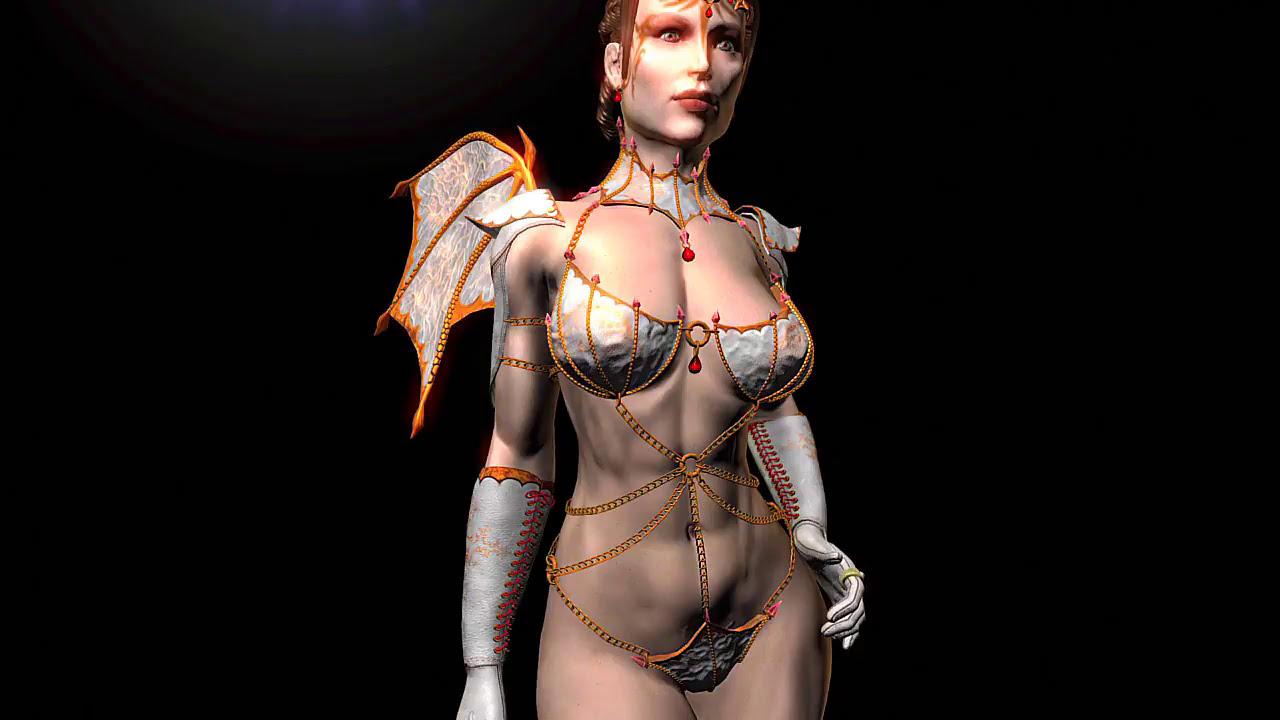 Skyrim Mods XB1 Vampire Chains Cuirass UNP All 38 Pieces Sexy Armor Girly  Female HD TOSO