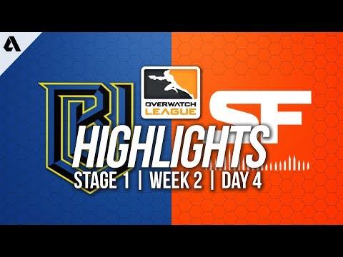 Boston Uprising vs San Francisco Shock ft Babybay | Overwatch League Highlights OWL Week 2 Day 4