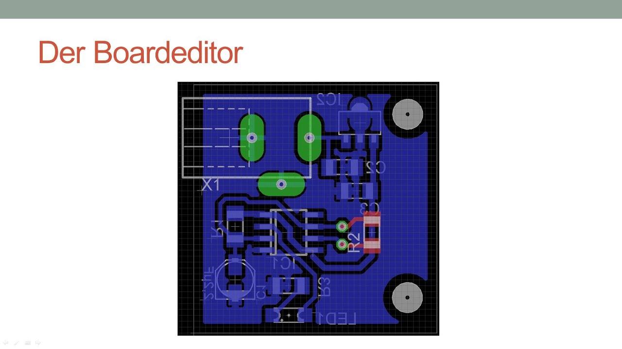 CadSoft EAGLE Tutorial - Boardeditor - Teil 3 [Deutsch/German] - YouTube