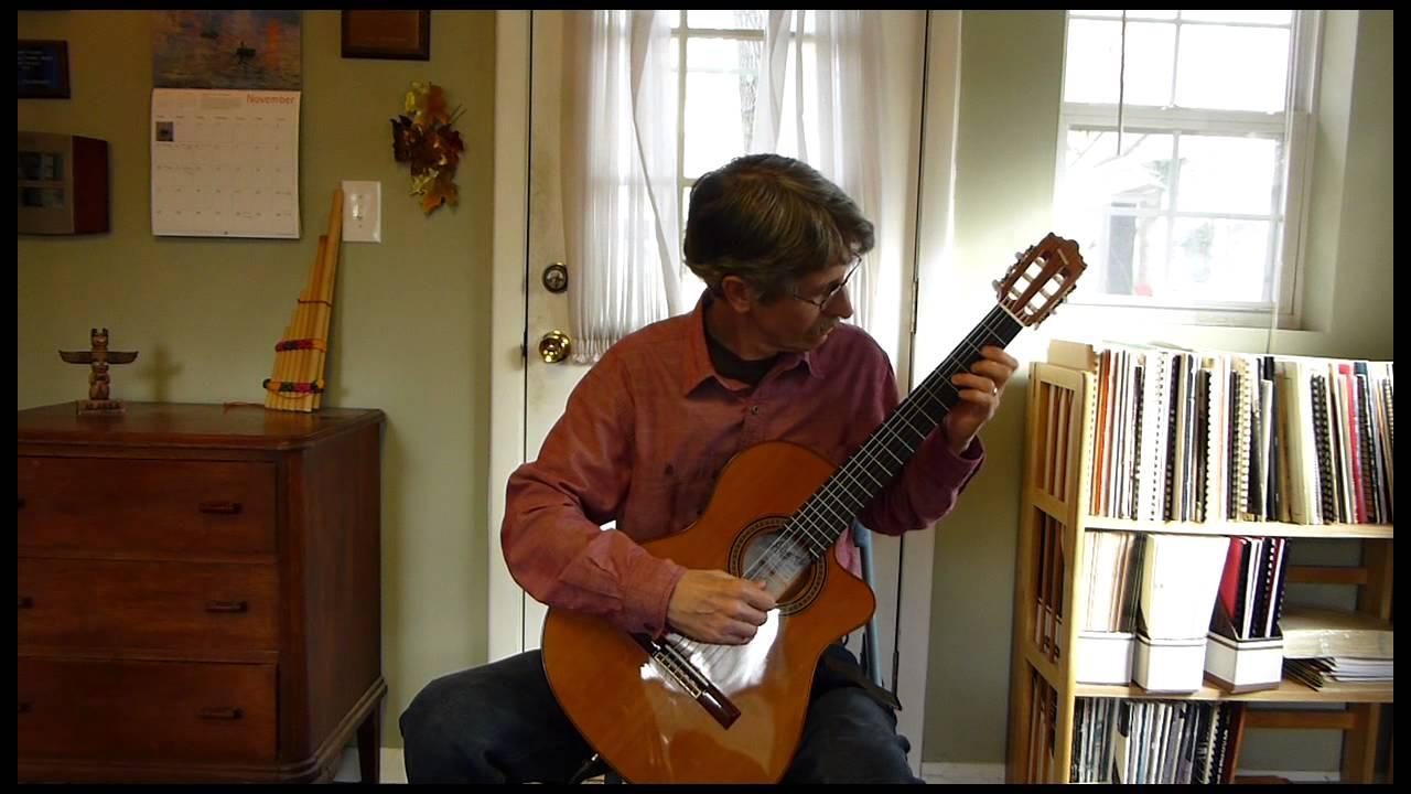 A La Nanita Nana For Solo Guitar Youtube
