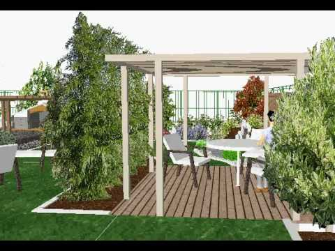 Etude de l 39 am nagement d 39 un jardin moderne youtube for Amenagement jardin moderne