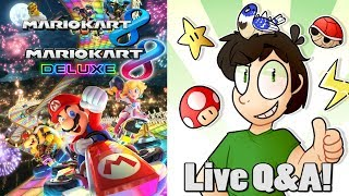 Mario Kart 8 Deluxe, Then Live 60,000 Subscriber Q&A! (Saturday Stream Part 2/2)