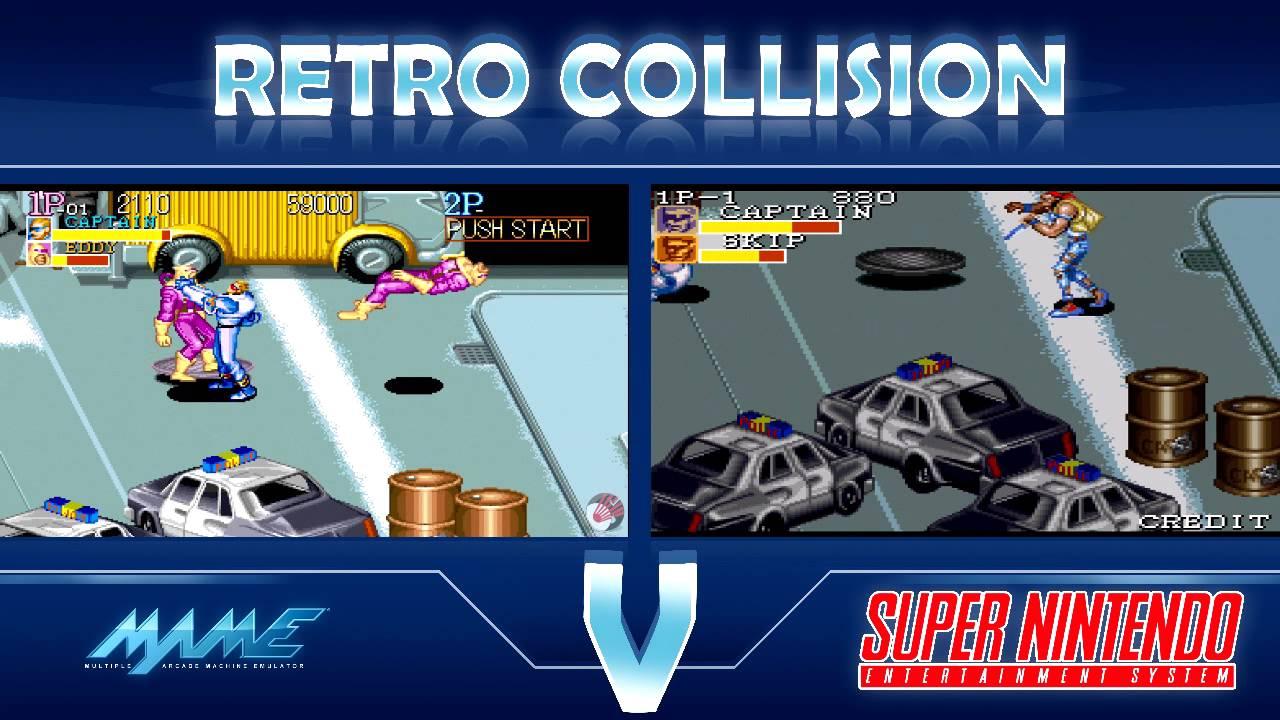 Retro Collision: Captain Commando Arcade VS SNES - YouTube
