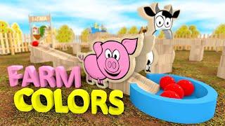 Kulki dla dzieci ze zwierzętami na wsi - Kolory i zwierzęta | CzyWieszJak