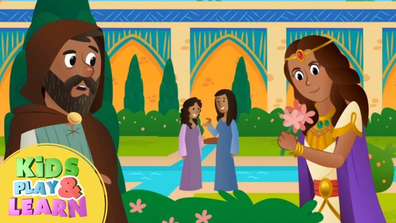 Queen Esther Bible Story For Kids & Children - YouTube