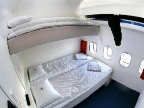 Hostel on an Airplane! Jumbo Stay Room Tour @Arlanda Airport, Stockholm Sweden