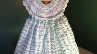 Repeat youtube video How to Crochet a Baby Dress - Easy Shells