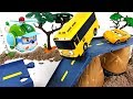 There was an earthquake Tayo Robocar Poli town! Super Wings! Rescue your friends!  DuDuPopTOY