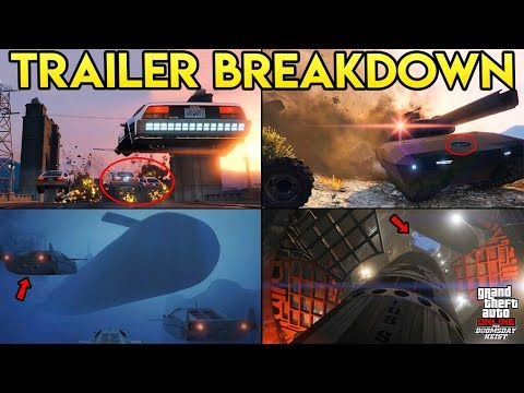 GTA ONLINE - THE NEW DOOMSDAY HEIST TRAILER BREAKDOWN (Everything You May Have Missed)