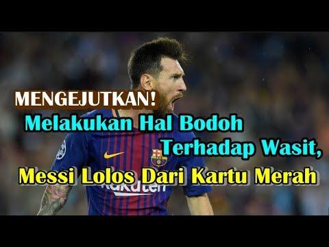 Melakukan Hal Bodoh Terhadap Wasit, Bintang Barcelona Lionel Messi Lolos Dari Kartu Merah