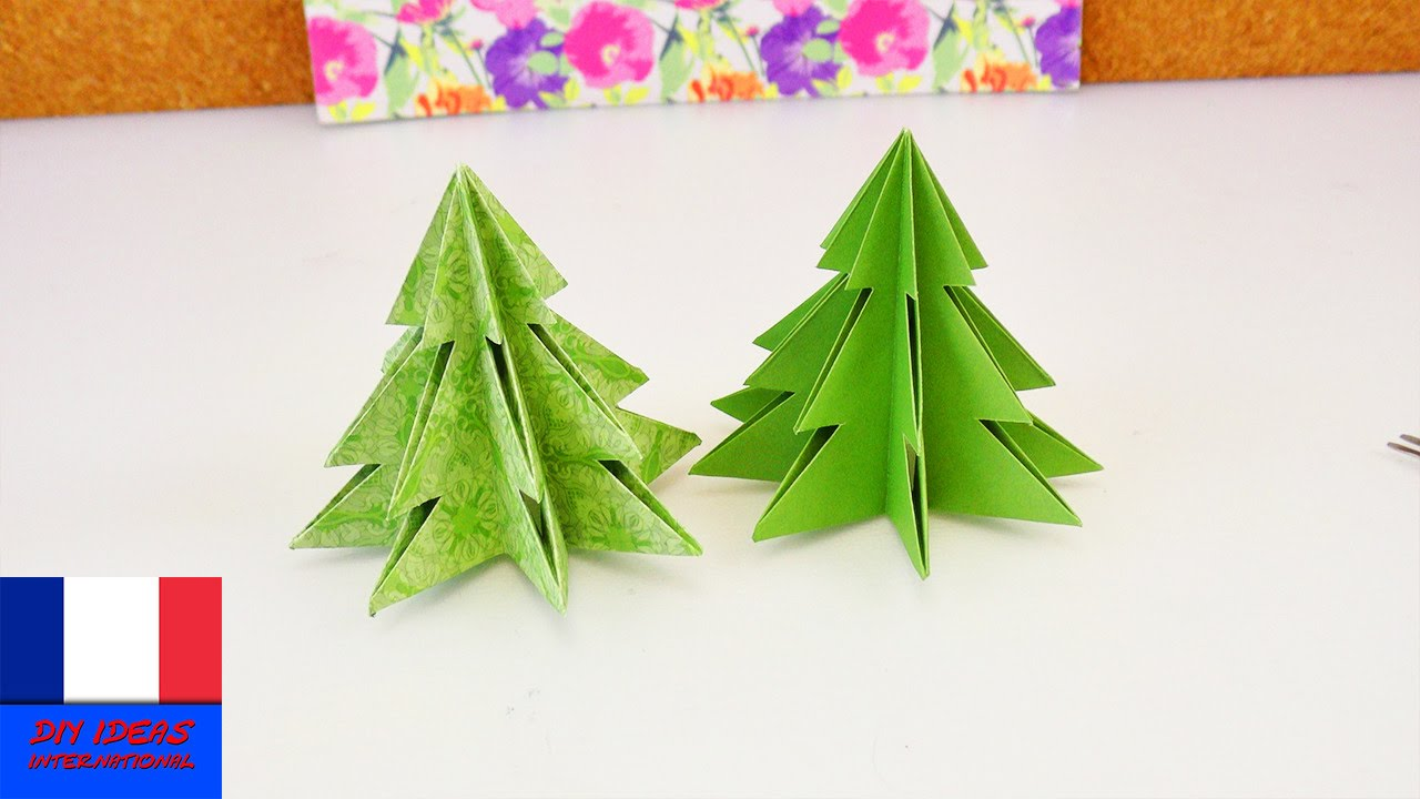 explication origami sapin