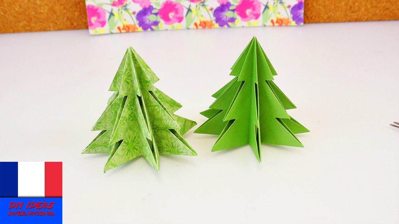 Sapin De Noel Origami Pliage Pour Les Fetes Papier Et Ciseaux Youtube