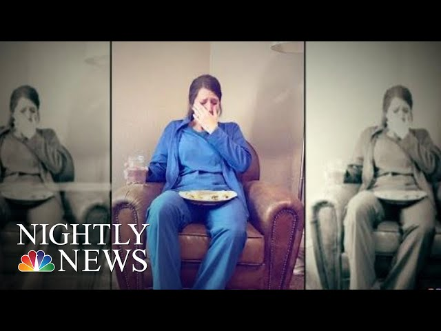 Viral Photo Of Nurse Crying After A Long Shift Draws Outpouring Of Support | NBC Nightly News