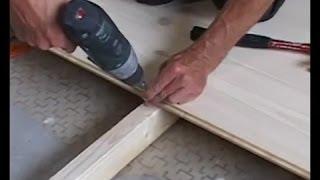 Смотреть видео как настелить деревянный пол видео