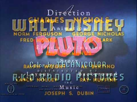 "Pluto - ""Plutopia"" (1951) - recreation titles"