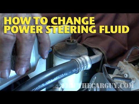 How To Change Power Steering Fluid EricTheCarGuy  YouTube