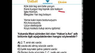 Uygur Türkçesi soru çözümü