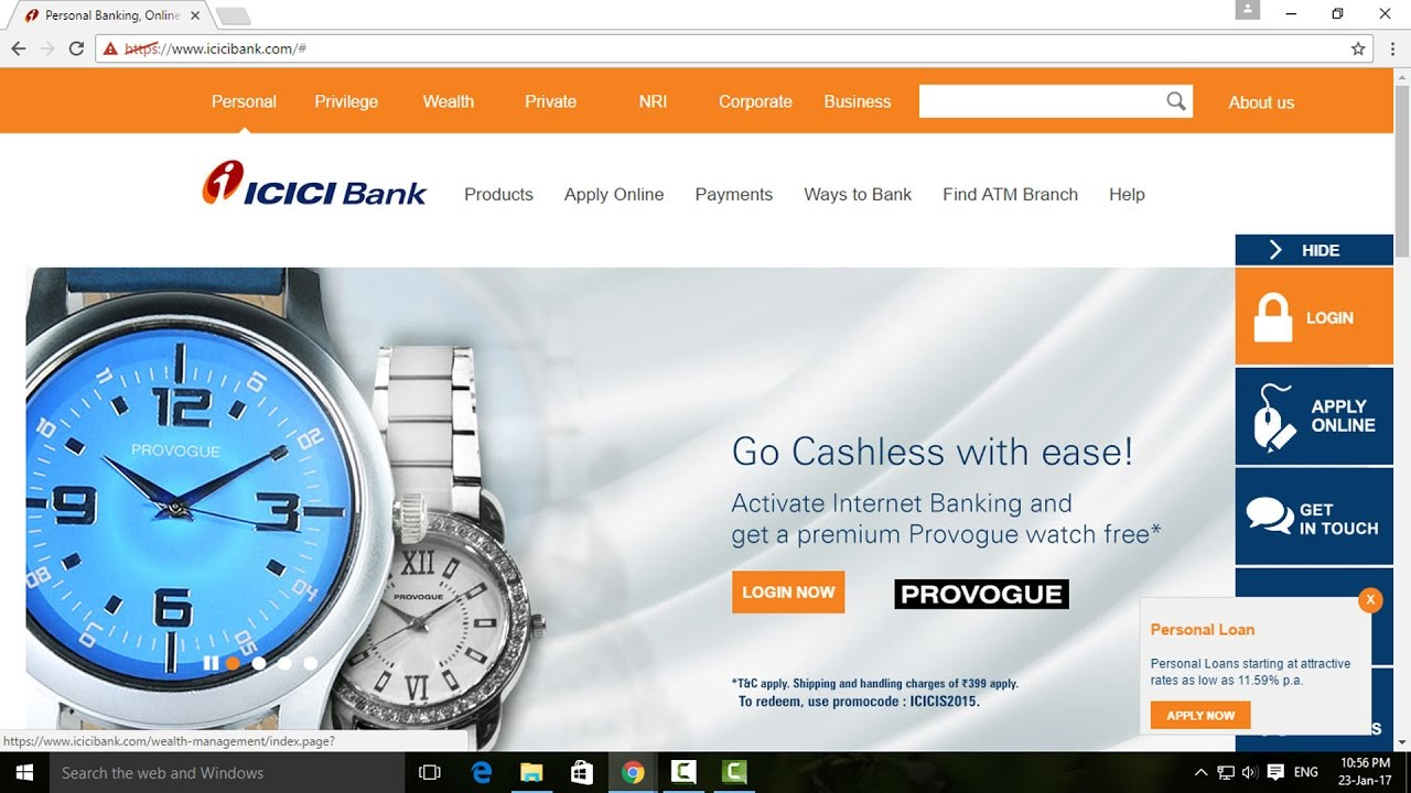 online application for internet banking in corporation bank