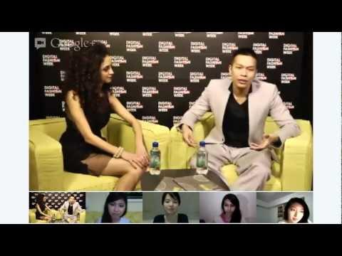 Google+ Hangout with Singaporean Designer Eugene Lin - #DigitalFashionWeek Singapore 2012