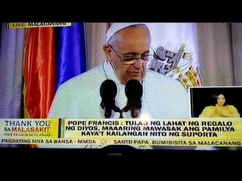 Pope Francis Speech at the Malacañang Palace