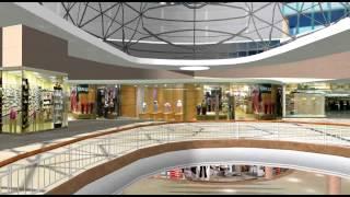 mall shopping 3d animation vr through