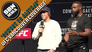 Urijah Faber and Tyron Woodley Q&A | UFC Vancouver | Full Video
