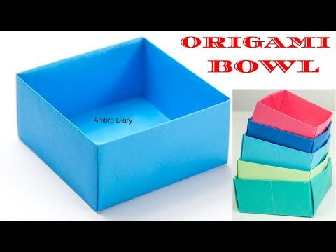 How to make a Paper Bowl   Easy Origami Bowl   Craft for Kids   Anibro Diary