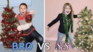 BRO vs SIS! Christmas Decorating Challenge