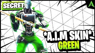 GREEN A.I.M SKIN & PICKAXE LUI IN FORTNITE.. (*SECRET*)