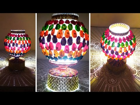 #How To Make A DIY Night Lamp With Fish Bowl And Pista Shells#DIY Night Lamp#Fish Bowl Lamp#