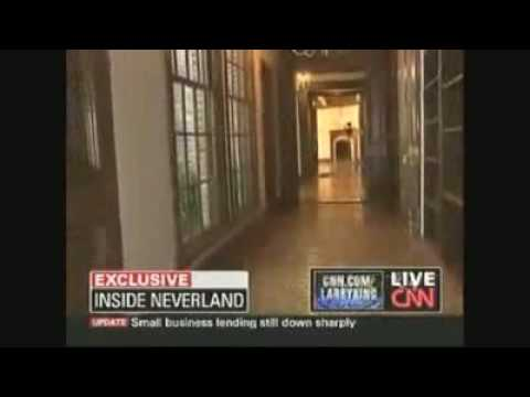Michael Jackson Ghost NEVERLAND During CNN Larry King Interview with Jermaine Jackson